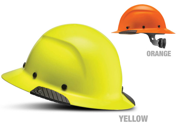 Lift Safety Dax Fiber Resin Full Brim Hi-Viz Hard Hat with 6-Point Suspension