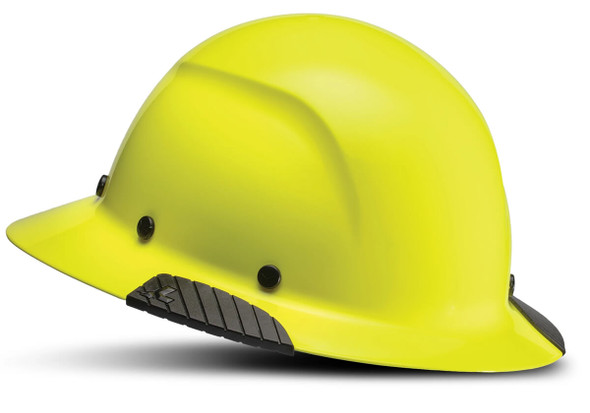 Lift Safety Dax Fiber Resin Full Brim Hi-Viz Hard Hat with 6-Point Suspension - Yellow