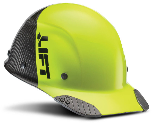 Lift Safety Dax Carbon Fiber Cap Style Fifty 50 Hard Hat with 6-Point Suspension - Yellow/Black