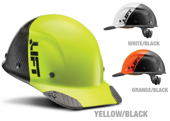 Lift Safety Dax Carbon Fiber Cap Style Fifty 50 Hard Hat with 6-Point Suspension