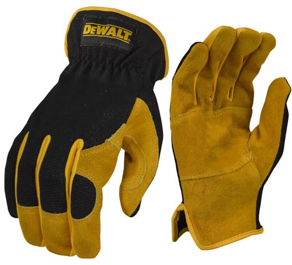DeWalt DPG216 Split Cowhide Leather Palm Hybrid Gloves