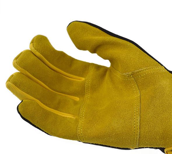 DeWalt DPG216 Split Cowhide Leather Palm Hybrid Gloves Palm View