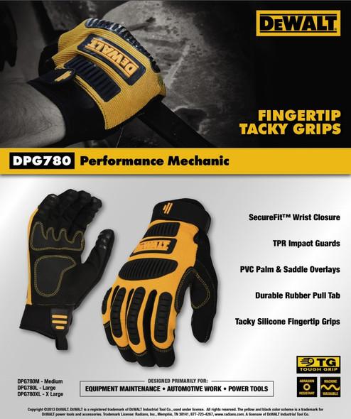 DeWalt DPG780 Performance Mechanic Work Gloves Key Features