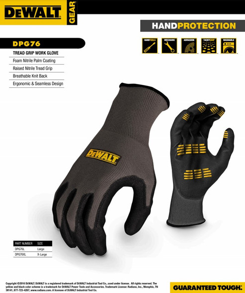 DeWalt DPG76 Tread Grip Work Gloves Info