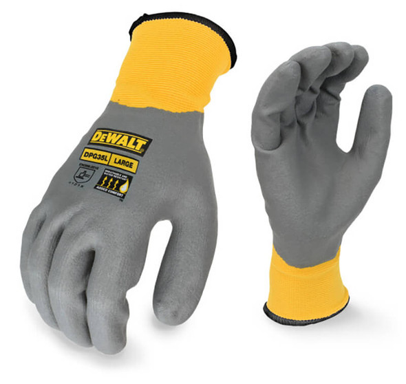 DeWalt DPG35 Full Dip Water-Resistant Breathable Work Glove