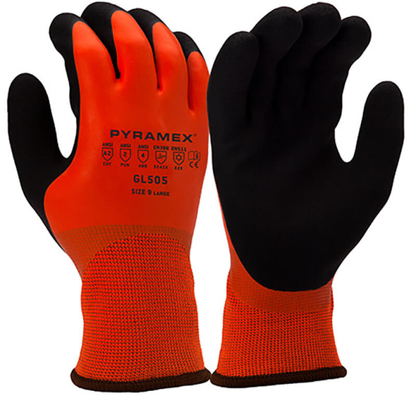 Pyramex GL505 Hi-Vis Winter Cut-Resistant Gloves