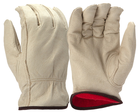 Pyramex GL4003K Winter Insulated Pigskin Leather Gloves w/ Keystone Thumb (12 Pair)