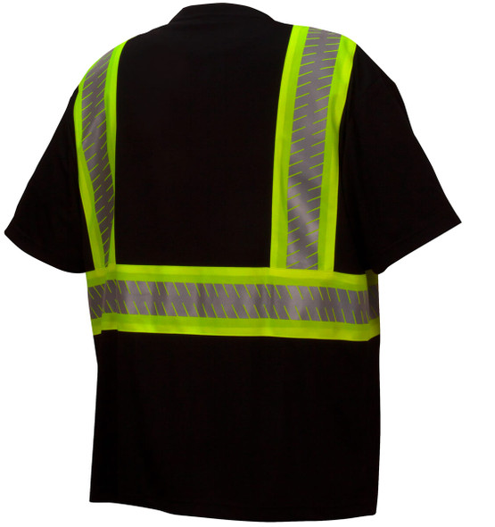 Pyramex RTS23 Type 0 Class 1 Black Hi-Vis Safety T-Shirt - Back