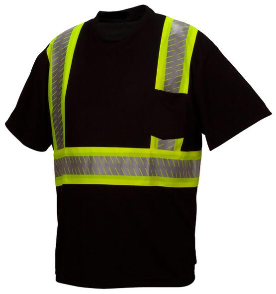 Pyramex RTS23 Type 0 Class 1 Black Hi-Vis Safety T-Shirt