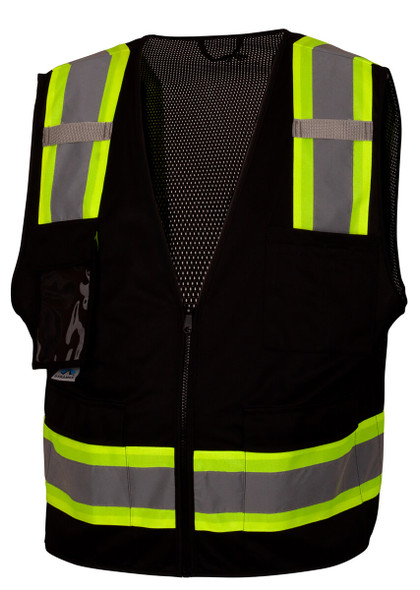 Pyramex RVZ2411CP Type 0 Class 1 Black Hi-Vis Safety Vest