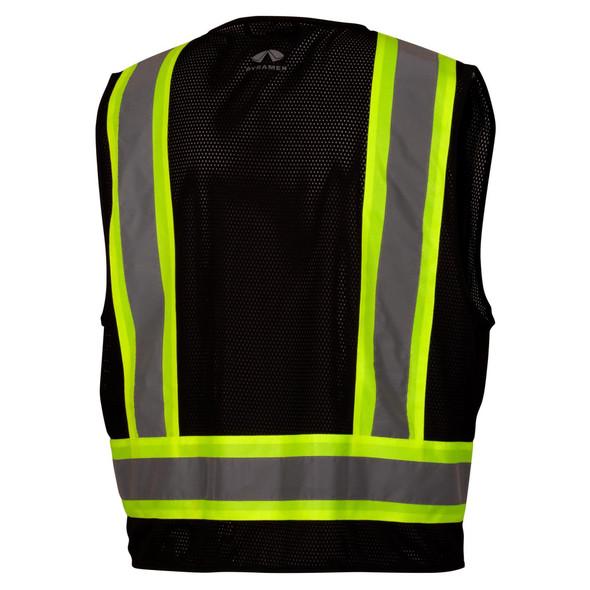 Pyramex RVZ2411CP Type 0 Class 1 Black Hi-Vis Safety Vest Back