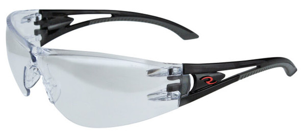 Radians Optima Safety Glasses with Black Frame and Indoor-Outdoor Lens