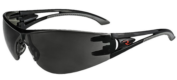 Radians Optima Safety Glasses with Black Frame and Smoke IQUITY Anti-Fog Lens