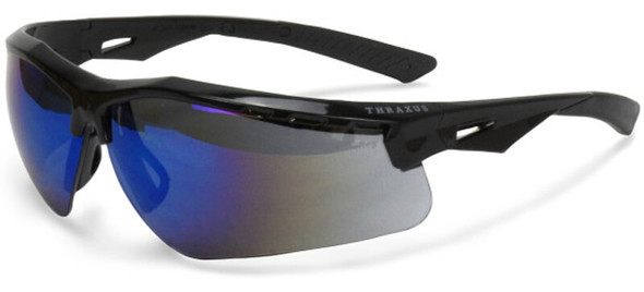 Radians Thraxus Safety Glasses with Blue Mirror Lens TXC1-70ID