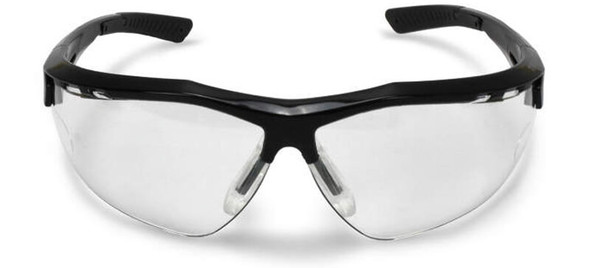 Radians Thraxus Safety Glasses with Clear IQUITY Anti-Fog Lens - Front View