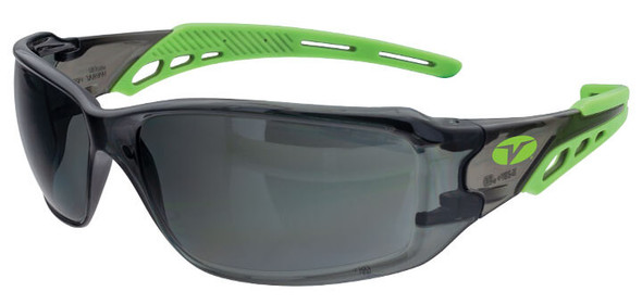 Encon Veratti Brio Safety Glasses with Green Frame and Gray Anti-Fog Lens