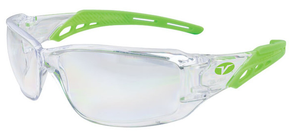 Encon Veratti Brio Safety Glasses with Green Frame and Clear Anti-Fog Lens