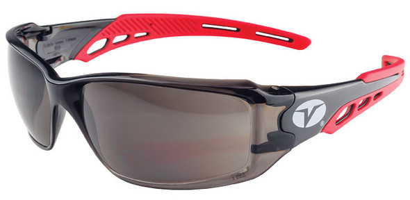Encon Veratti Brio Safety Glasses with Red Frame and Gray ENFOG Anti-Fog Lens