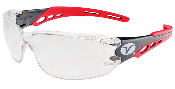 Encon Veratti Brio Safety Glasses with Red Frame and Clear ENFOG Anti-Fog Lens