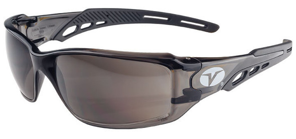 Encon Veratti Brio Safety Glasses with Black Frame and Gray Lens