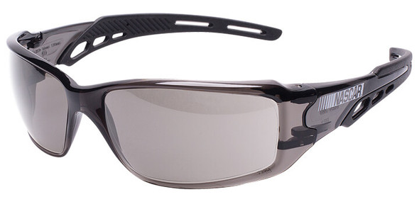 Encon NASCAR Brio Safety Glasses with Black Frame and Gray Lens
