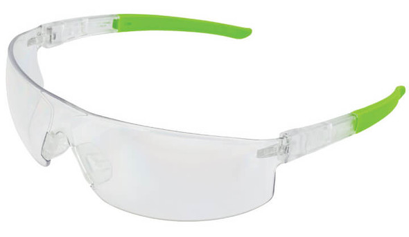 Encon Veratti Salvo Safety Glasses with Clear/Green Frame and Clear Anti-Fog Lens