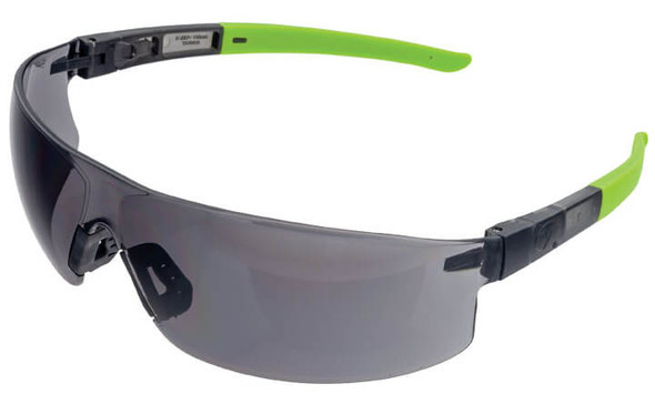 Encon Veratti Salvo Safety Glasses with Gray/Green Frame and Gray Anti-Fog Lens