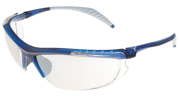 Encon Veratti 307 Safety Glasses with Blue Frame and Indoor-Outdoor Lens
