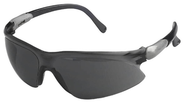 KleenGuard Visio Safety Glasses with Silver Temple and Smoke Anti-Fog Lens 14473
