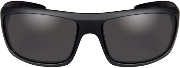 Wiley X Omega Safety Sunglasses Matte Black Frame Captivate Polarized Grey Lens ACOME08 Front