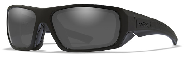 Wiley X Enzo Black Ops Safety Sunglasses with Matte Black Frame and Smoke Grey Lens