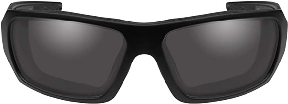 Wiley X Enzo Black Ops Safety Sunglasses Matte Black Frame Smoke Grey Lens CCENZ01 Front