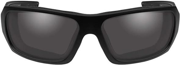 Wiley X Enzo Black Ops Safety Sunglasses Matte Black Frame Smoke Grey Lens CCENZ01 Front