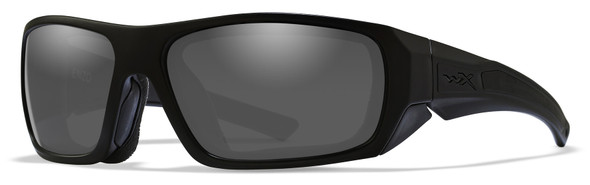 Wiley X Enzo Safety Sunglasses with Gloss Black Frame and Grey Lens