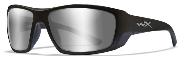 Wiley X Kobe Safety Sunglasses with Matte Black Frame and Silver Flash Lens