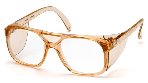 Pyramex Monitor Safety Glasses with Caramel Frame and Clear Lens SC210C