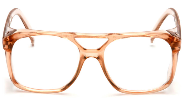 Pyramex Monitor Safety Glasses with Caramel Frame and Clear Lens SC210C - Front View