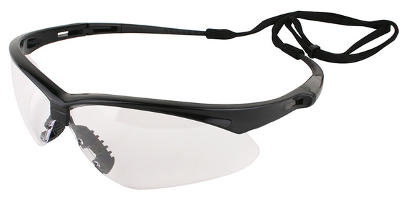 KleenGuard Nemesis Safety Glasses with Black Frame and Clear Lens