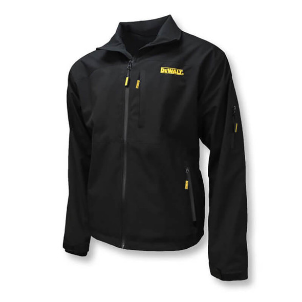 DEWALT Unisex Heated Structured Soft Shell Jacket Black Without Battery