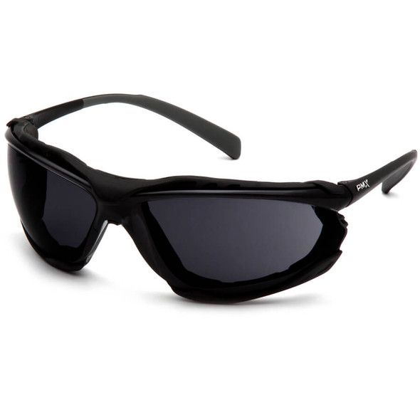 Pyramex Proximity Safety Glasses with Black Frame and Gray H2MAX Anti-Fog Lens