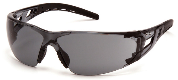 Pyramex Fyxate Safety Glasses with Black Frame and Gray Lens SB10220S