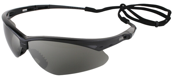 Jackson Nemesis Safety Glasses with Black Frame and Smoke Mirror Lens 25688