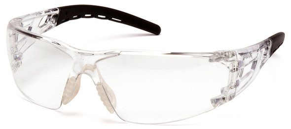 Pyramex Fyxate Safety Glasses with Clear/Black Frame and Clear Lens SB10210S