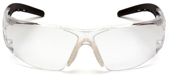 Pyramex Fyxate Safety Glasses with Clear/Black Frame and Clear Lens SB10210S - Front View