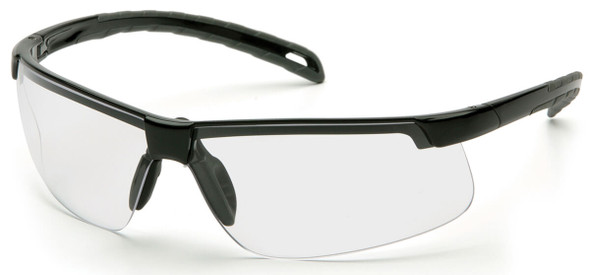 Pyramex Ever-Lite Safety Glasses with Black Frame and Clear H2MAX Anti-Fog Lens SB8610DTM