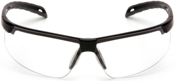 Pyramex Ever-Lite Safety Glasses with Black Frame and Clear H2MAX Anti-Fog Lens SB8610DTM - Front View