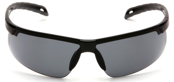 Pyramex Ever-Lite Safety Glasses with Black Frame and Gray H2MAX Anti-Fog Lens SB8620DTM - Front View