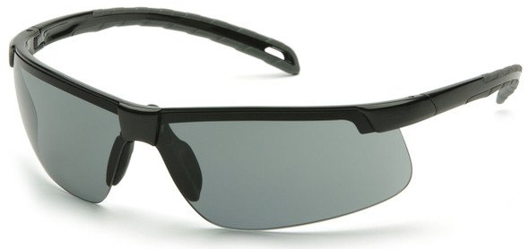 Pyramex Ever-Lite Safety Glasses with Black Frame and Gray H2MAX Anti-Fog Lens SB8620DTM