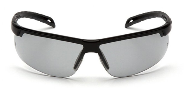 Pyramex Ever-Lite Safety Glasses with Black Frame and Light Gray H2MAX Anti-Fog Lens SB8625DTM - Front View