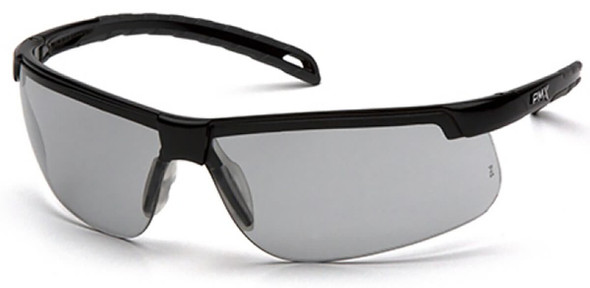 Pyramex Ever-Lite Safety Glasses with Black Frame and Light Gray H2MAX Anti-Fog Lens SB8625DTM